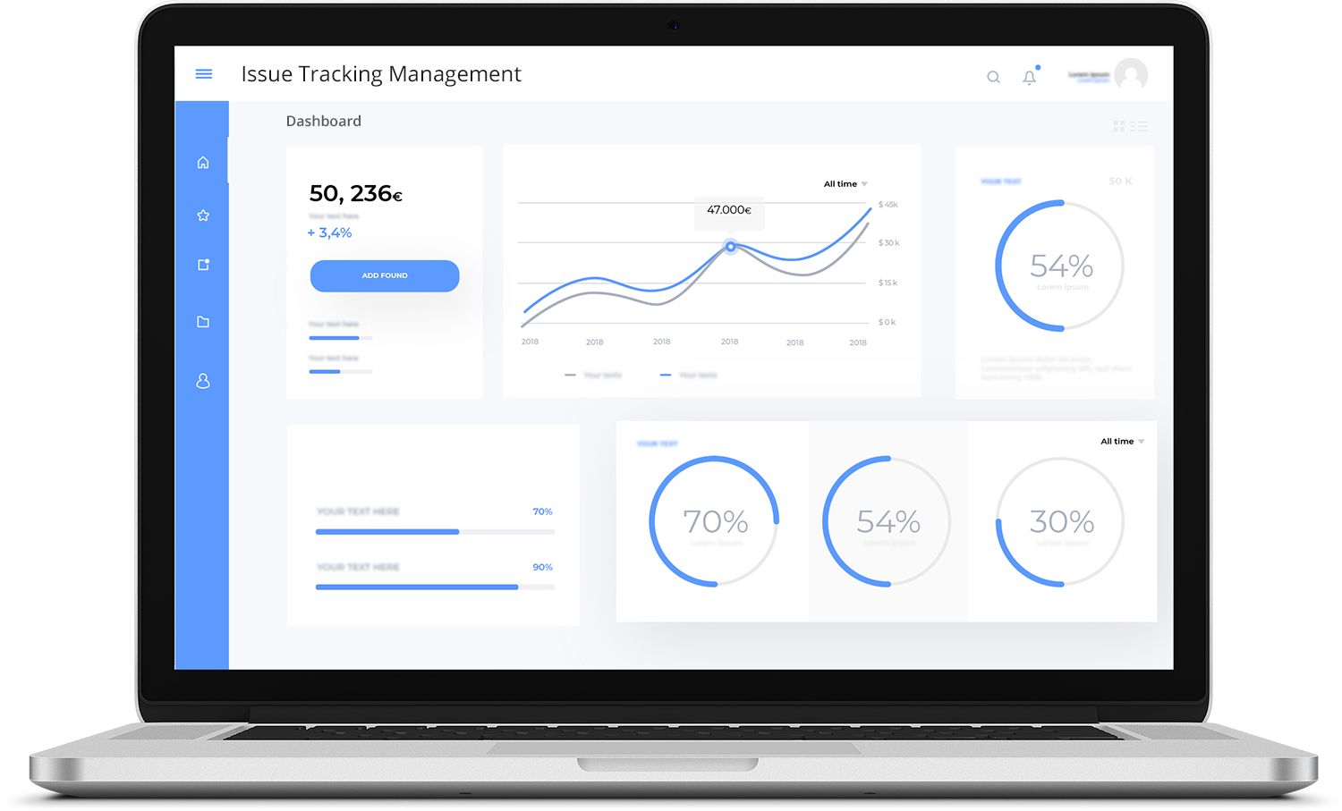 Issue Tracking Management Software Dashboard
